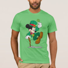 Leprechaun Mickey Mouse | St. Patrick's Day T-shirt at Zazzle
