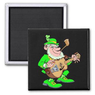 Leprechaun Musician Magnet
