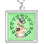 Leprechaun on a Mushroom Custom Jewelry