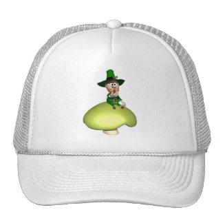 Leprechaun On Toadstool Mesh Hats