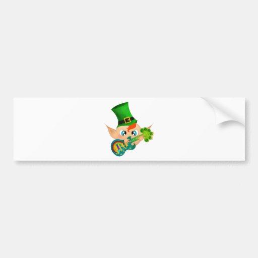 Leprechaun oscilante etiqueta de parachoque