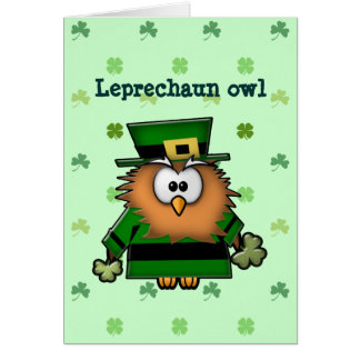 leprechaun owl card