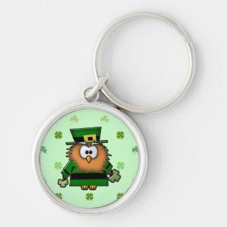 leprechaun owl keychain