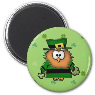 leprechaun owl fridge magnets