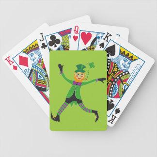 Leprechaun Bicycle Playing Cards