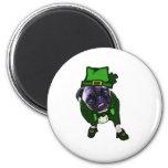 Leprechaun Pug Fridge Magnets