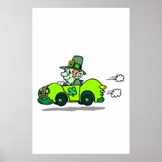 Leprechaun Racer Poster