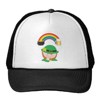 Leprechaun Rainbow Beer Mesh Hats