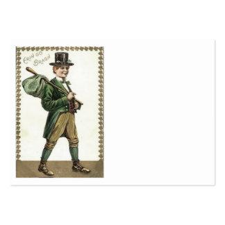 Leprechaun Shamrock Hobo Bindle Large Business Card
