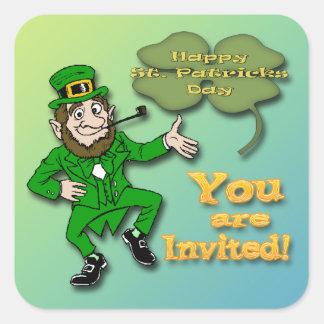 Leprechaun Shamrock Invitation envelope seal