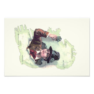 Leprechaun Shamrock Ireland Island Photo Print
