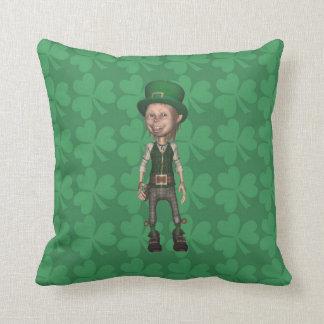 Leprechaun Shamrocks American MoJo Pillow
