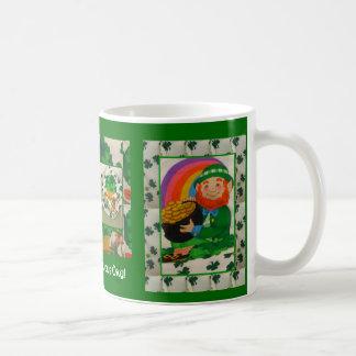 Leprechaun & Shamrocks Happy St. Patrick's Day Mug