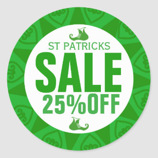 Leprechaun Shoe-St Patrick's Sale Sticker