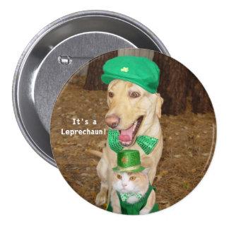 Leprechaun Sighting Pinback Button