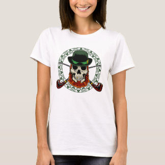 Leprechaun Skull Ladies Fitted Babydoll T-Shirt