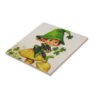 Leprechaun Small Square Tile