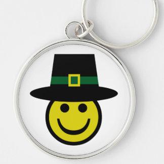 Leprechaun Smiley Keychain