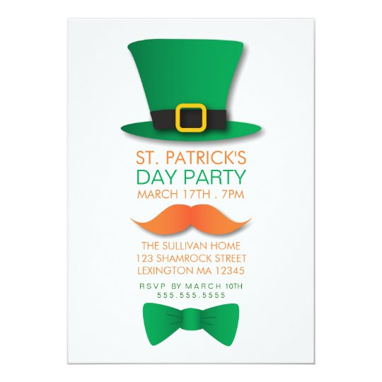 leprechaun st patrick s day invitation zazzle com