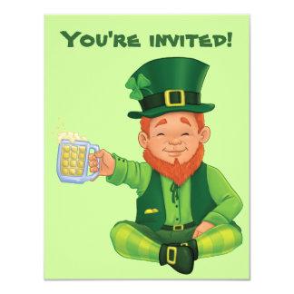 Leprechaun St. Patrick's Day invitation