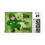 Leprechaun St. Patrick's Day Invitation Postage