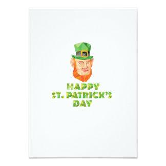 Leprechaun St Patrick's Day Low Polygon 11 Cm X 16 Cm Invitation Card