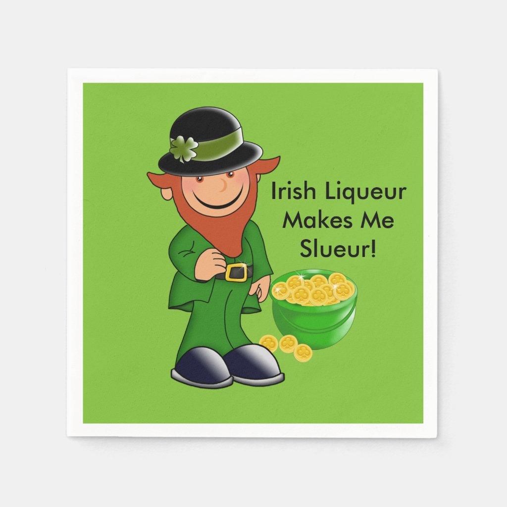Leprechaun, St. Patrick's Day Paper Napkins