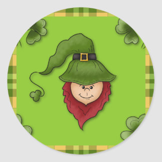 Leprechaun St. Patrick's Day Stickers Seals