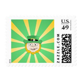 Leprechaun Starburst Postage Stamp
