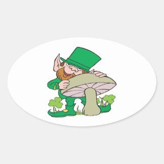 Leprechaun Oval Stickers