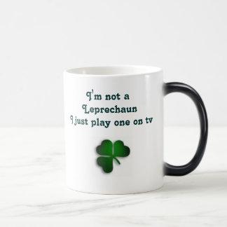 Leprechaun TV star2 11 Oz Magic Heat Color-Changing Coffee Mug