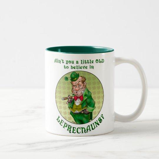 Leprechaun Two-Tone Coffee Mug