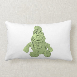 Leprechaun verde afortunado almohada