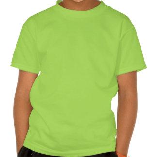 Leprechaun verde que equilibra un pote en su cabez camisetas