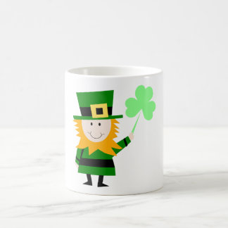 Leprechaun with 3-Leaf Clover, St. Patrick's Day Coffee Mug