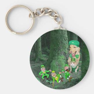 Leprechauns! Basic Round Button Keychain