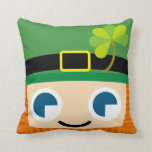 Leprechauns de la sonrisa almohadas