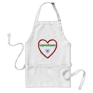 Leprechauns del amor delantal