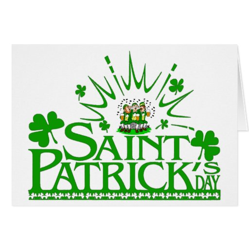 Leprechauns del canto de St Patrick tarjeta