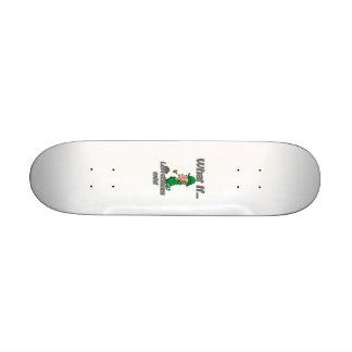 leprechauns exist skateboard deck