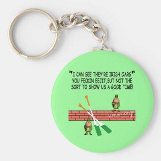 Leprechauns irlandeses divertidos llavero redondo tipo pin