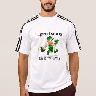 Leprechauns Run in my Family Adidas SS T-Shirt