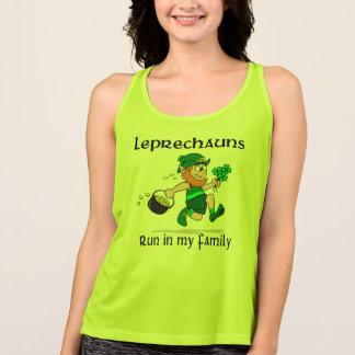 Leprechauns Run in my Family - All Sport Tank Top