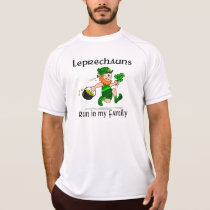 Leprechauns Run in my Family New Balance SS T-Shirt