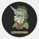 Leprecorn Round Stickers