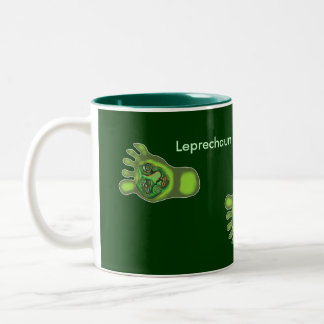 Leprecorns del Leprechaun Taza De Dos Tonos