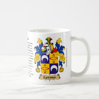 Lerma, the Origin, the Meaning and the Crest Coffee Mug