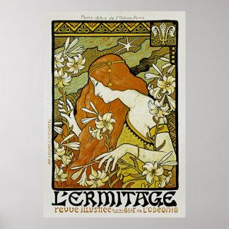 L'Ermitage Art Nouveau Floral Poster
