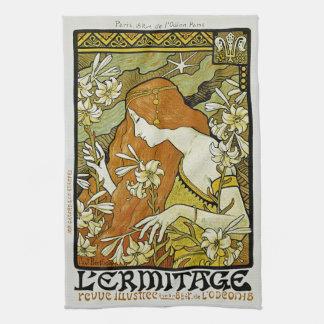 L'Ermitage Art Nouveau Floral Towel
