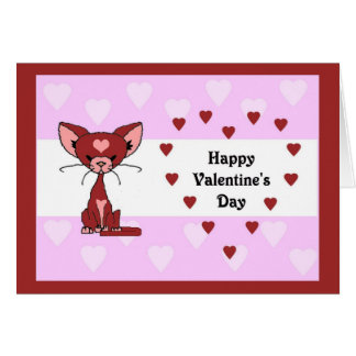 Leroy Cat - Valentine's Day Card (Meet the Mews)